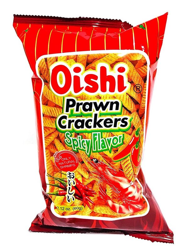 Oishi Pawn Crackers 90gspicy